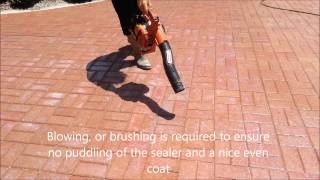 How to clean and seal a paver driveway with Seal 'n Lock