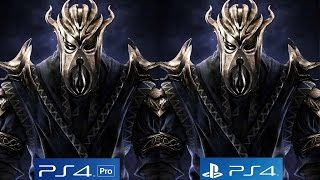 [4K/60FPS] Skyrim Remaster: PS4 vs PS4 Pro 4K vs PS4 Pro 1080p