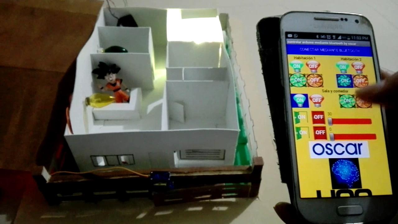 Control de casa inteligente por bluetooth arduino y
