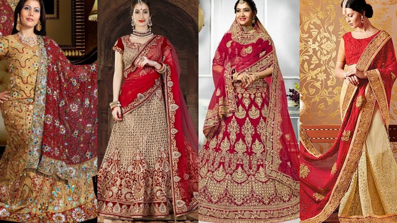 Top 12 latest designer half sarees for wedding