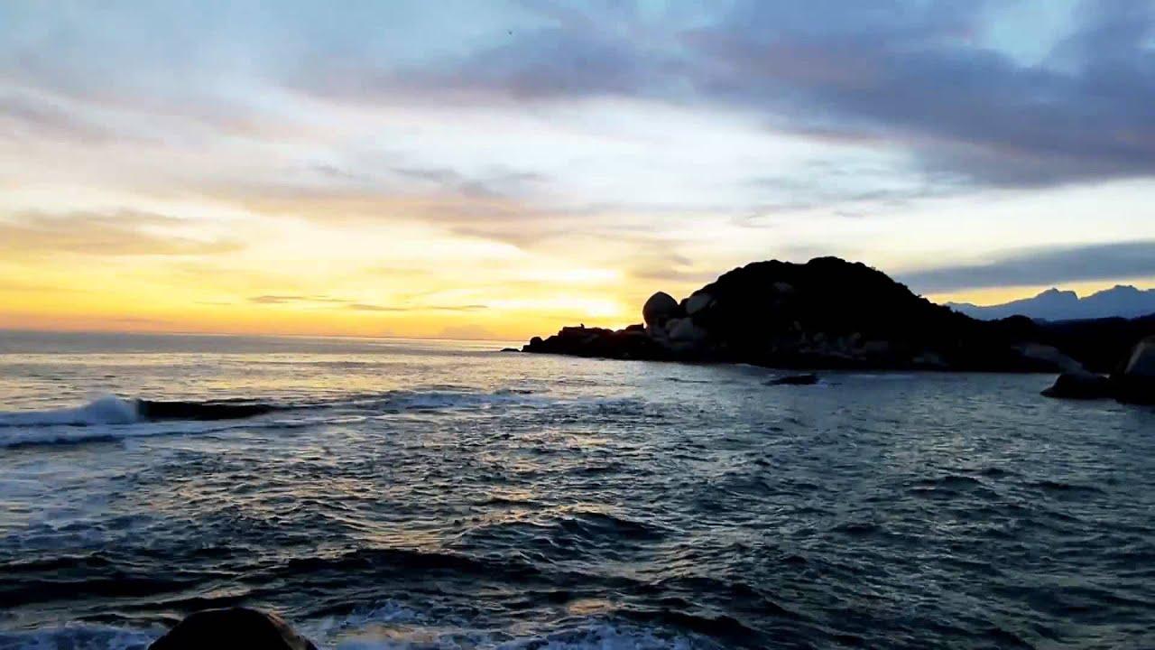 #13865 Atardecer oscuro en la playa Timelapse+Efecto