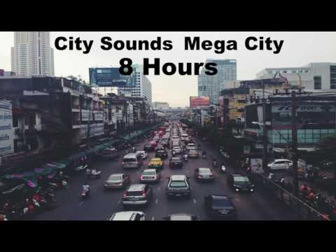 City Sounds - Mega City - Traffic, Horns, People, Ambience