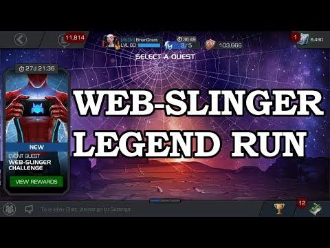 Full Legend Run - Web-Slinger Challenge | Marvel Contest of Champions Live Stream