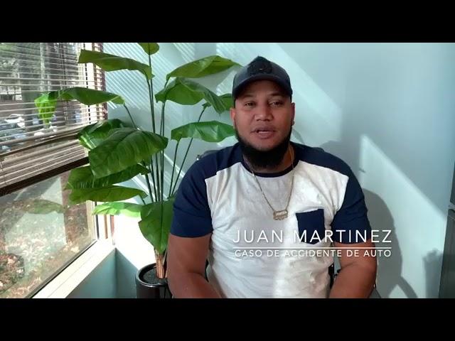 Otro cliente ¡feliz! Juan Martínez después de su accidente de auto en Atlanta