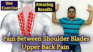 UPPER BACK PAIN Relief Exercise/Upper Back Pain Treatment/Pain Between SHOULDER BLADES/RHOMBOID Pain
