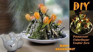 DIY bloemschikken Tulpen in Glas, Frühlings Deko im Glas, flower arrangement in glass DekoideenLand