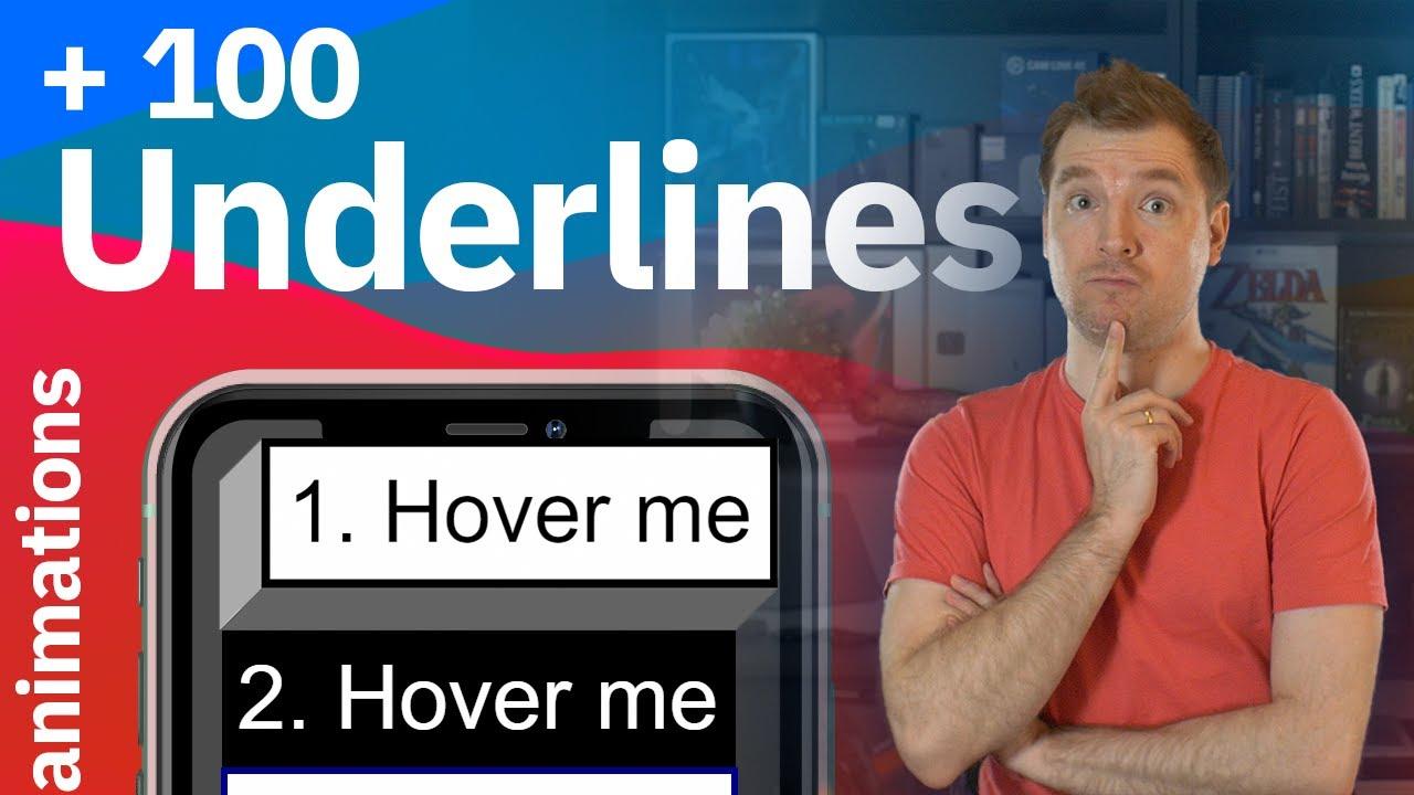 100 Underline & Overlay Animations using CSS