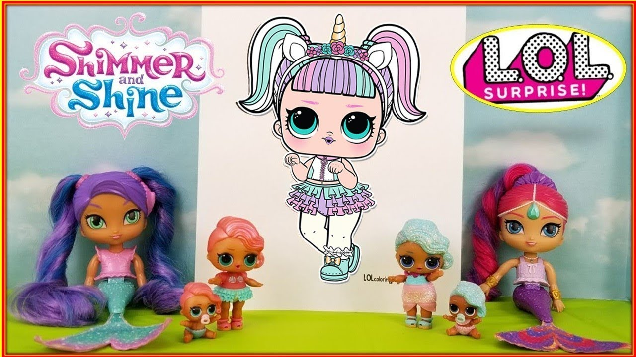 new lol doll unicorn coloring page foundshimmer
