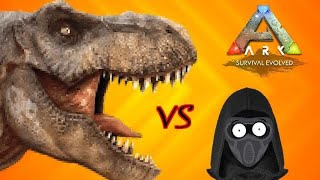 ARK: Survival Evolved Tdinero97 vs a Hungry T-Rex