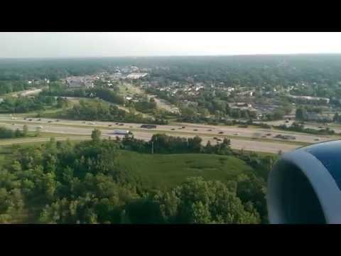 Delta Air Lines, 737-700, landing in Columbus (HD)