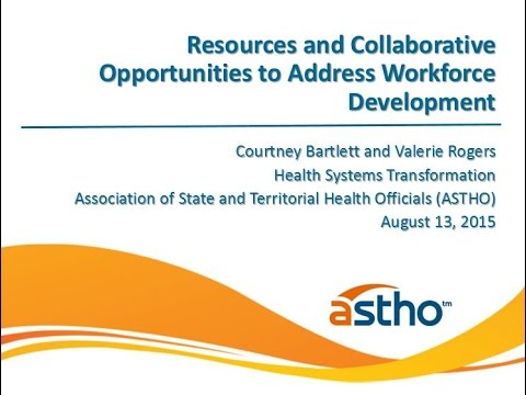 Webinar: Resources and Collaborative Opportunities to Address Workforce Development