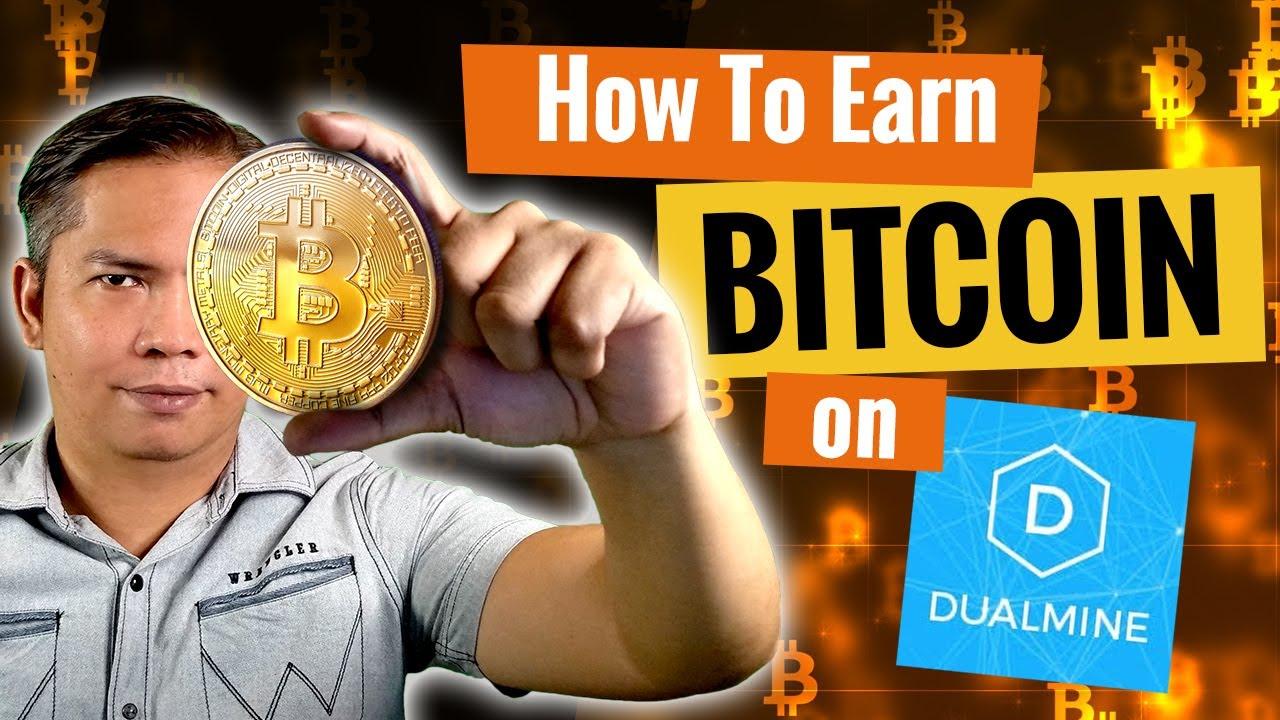How to Earn Bitcoin on DualMine + Withdrawal (English sub)