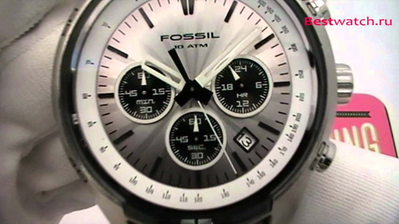 240e205ec0e Обзор мужских часов Fossil Chronograph CH2592 - YouTube
