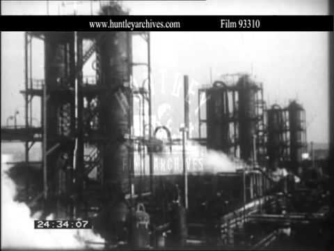 Oil and Gas Exploration, 1930's.  Archive film 93310
