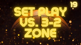 Set Play vs. 1-2-2 or 3-2 Zone Defense - Two Person Game