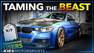 Taming INSANE Sounding AWE BMW F30 335 Exhaust (AWE Touring Exhaust Revs, Burbles, and Fly Bys)