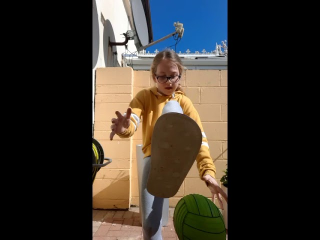 This girl puts her own unique and impressive spin on the 'Basketball Challenge'!