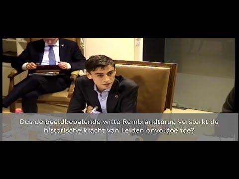 Wethouder Laudy, reactie op vragen vanuit politiek over kleurwijziging Rembrandtbrug Leiden