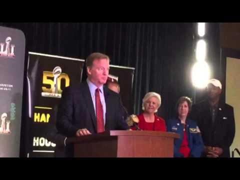 Roger Goodell Praises SF Super Bowl Host Committee #SB50