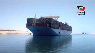 عبور ثاني أكبر سفينة حاويات في العالم  قناة السويس الجديدة لأول مرة
