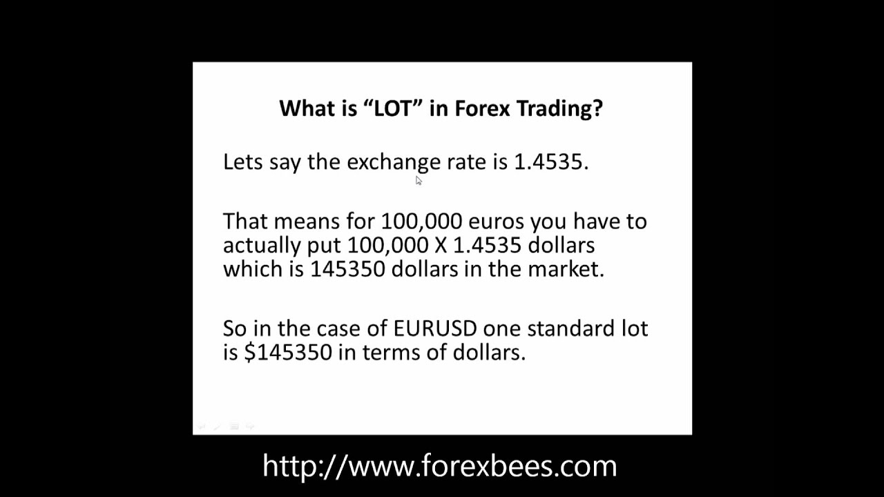 1 lot in forex
