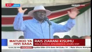 'Tulikutana na Uhuru tukasema tuungane pamoja' Raila at Universal Healthcare launch in Kisumu