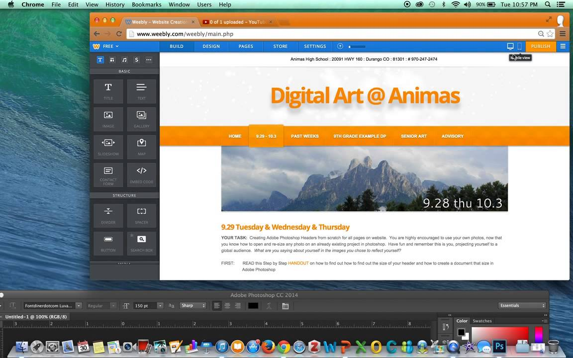 How to Check Header Size in Weebly & Create New Documents in ...