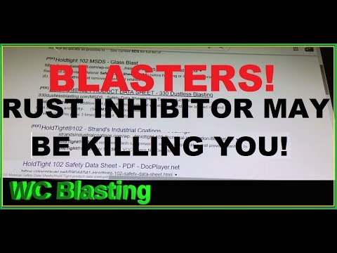 rust-inhibitor-is-bad-for-dustless-wet-blaster's-health-environment