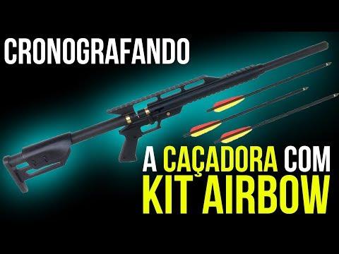 Cronografado Kit PCP Caçadora Airbow Setas 20