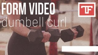 FORM CHECK - How to do a Dumbbell Curl