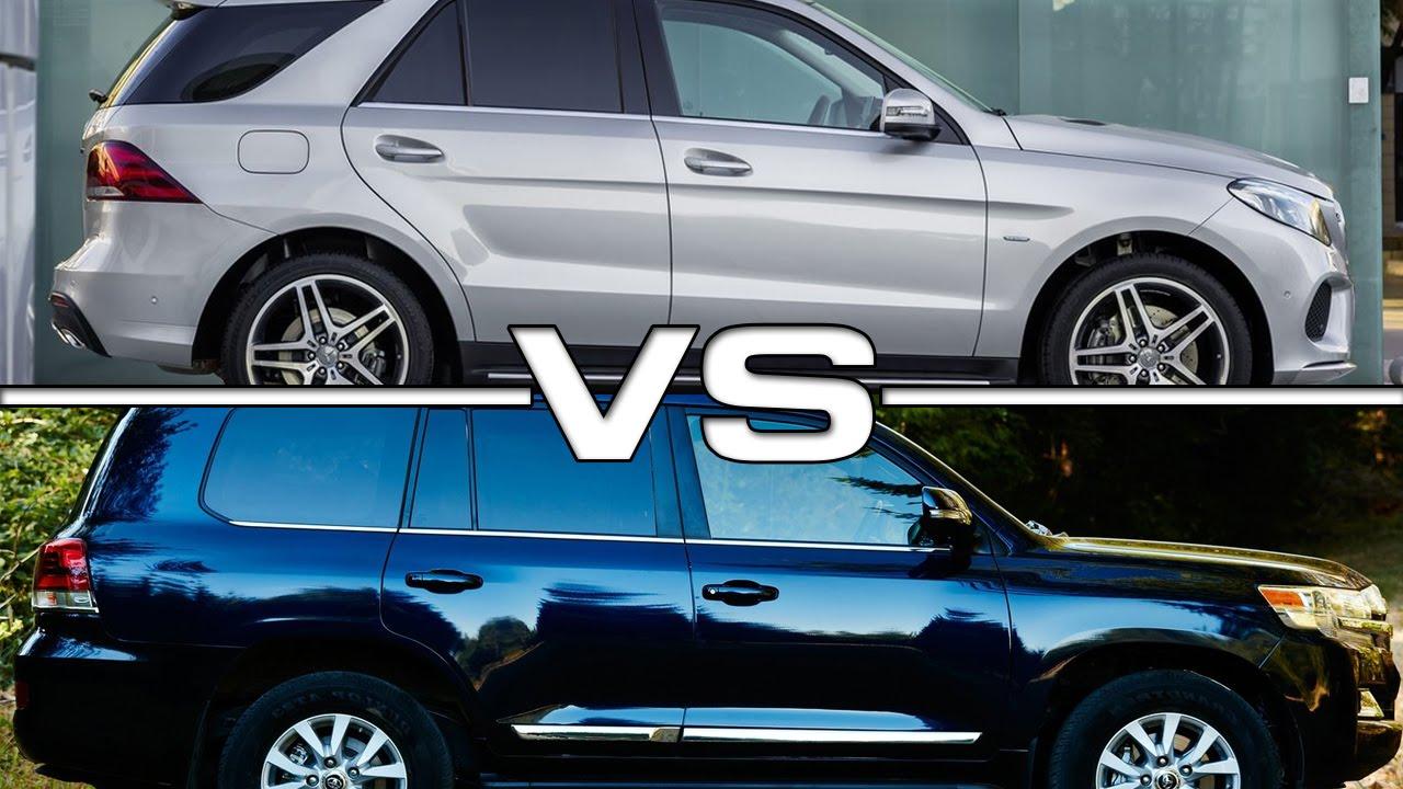 Toyota Fortuner 2015 >> 2016 Mercedes Benz GLE vs 2016 Toyota Land Cruiser - YouTube