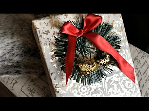 Christmas Gift Wrap Ideas - Embelishments