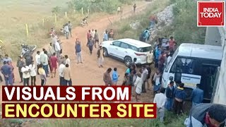 Hyderabad Rape Accused Killed In Encounter | First Visuals From The Encounter Site