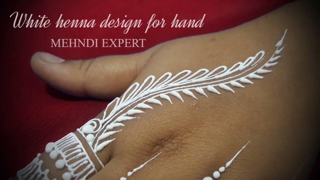 Diy How To Apply White Henna Body Paint Temporary Tattoo Tutorial 2