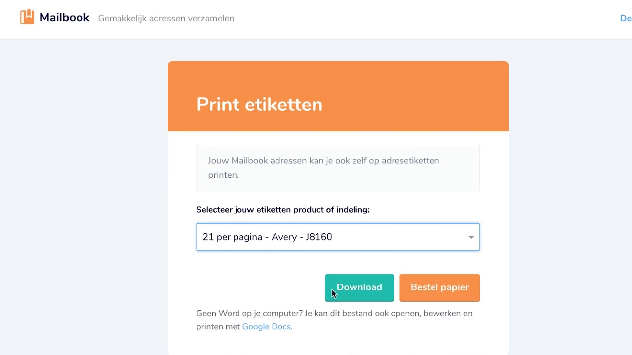 Beste Etiketten maken en printen met Mailbook - YouTube XE-01