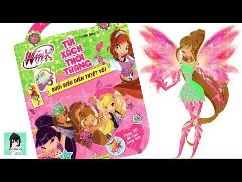 Sách chơi trò chơi, tô màu, dán hình Những Tiên Nữ Winx Xinh Đẹp #1 Toys for kids Ami Channel