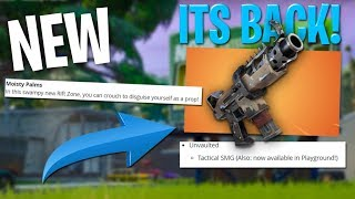 SMG UNVAULTED! But a lot of weird map changes - Fortnite Patch Notes Full Details