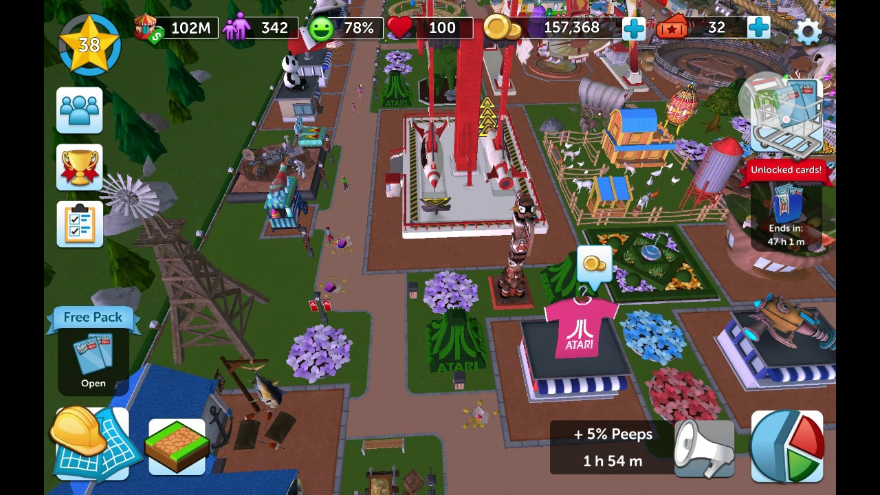 Easy fix to clean sick/rubbish from paths in RollerCoaster Tycoon touch