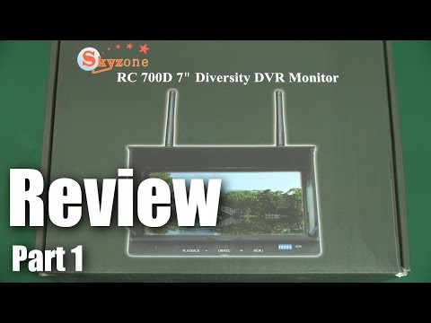 Review: Skyzone RC 700D Diversity DVR LCD monitor (part 1)