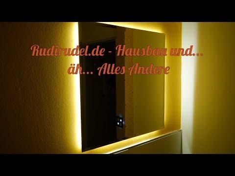 Badezimmerspiegel mit LED-Stripes - Rudirudel.de
