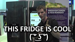 Ballin' Fridge with Hacks for Lazy Shoppers! - Samsung Booth - CES 2016