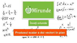 Produsul scalar a doi vectori