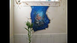 Украшаем стены дома - красивый декупаж стен