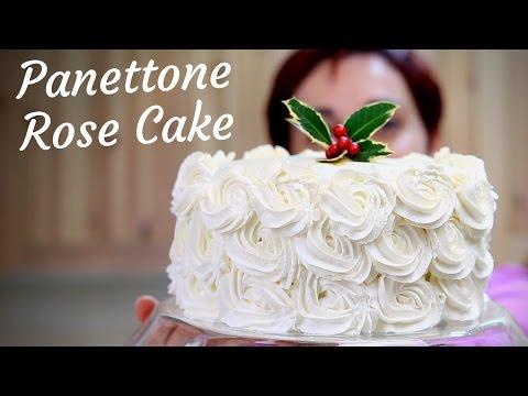 PANETTONE ROSE CAKE Ricetta in 10 minuti - 10 Minutes Panettone Rose Cake Recipe