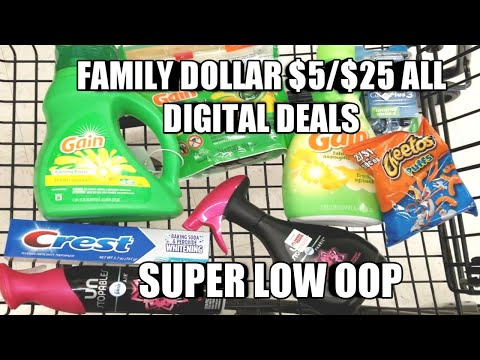 FAMILY DOLLAR $5/$25 ALL DIGITAL DEAL