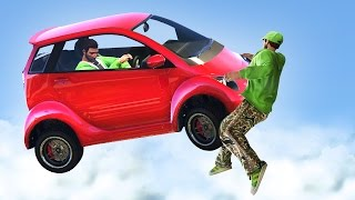 MINI CARS vs. RUNNERS! (GTA 5 Funny Moments)