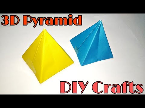 DIY Crafts : How to make Paper Pyramid || Origami 3D Pyramid