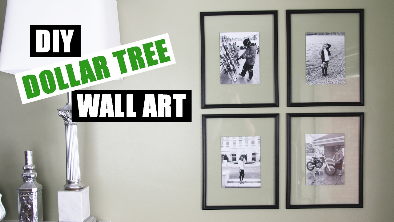 cheap framed wall art DOLLAR TREE DIY Floating Frame Art | Dollar Store DIY Gallery Wall  cheap framed wall art