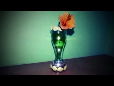 Cara Membuat Vas Bunga Berlampu Dari Botol Plastik Bekas