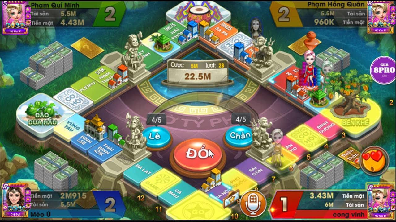 cờ tỷ phú game   chơi bàn 4 người map 5 triệu # 97
